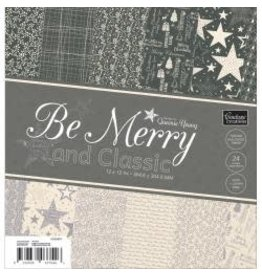 """Be Merry And Classic Paper Pad 12""""X12"""" 24/Pkg Double Sided"""