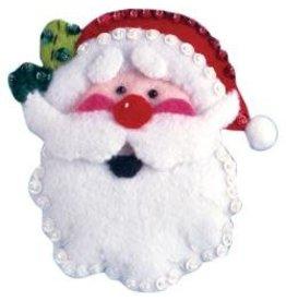 Santa Ornament Felt Craft Kit