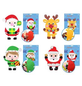 MultiCraft Seasonal Wonders: DIY Foam Friends Kit Peel-n-Stick asst 12eax4styles A) Holiday Friends