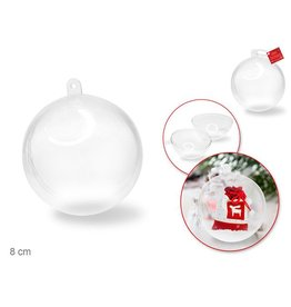 Multi Craft 8cm DIY Clear Ornament Ball 'Snap-Tite' Plastic