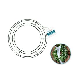 """MultiCraft Wire Wreath: 12"""" Green 4-Ring"""