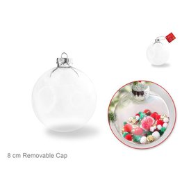 Multi Craft 8cm DIY Clear Ornament Glass Ball w/Metal Hanger