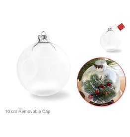 Multi Craft 10cm DIY Clear Ornament Glass Ball w/Metal Hanger