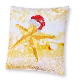 "Diamond Dotz Diamond Embroidery Pillow Facet Art Kit 8""X8"" Christmas Star Pillow"