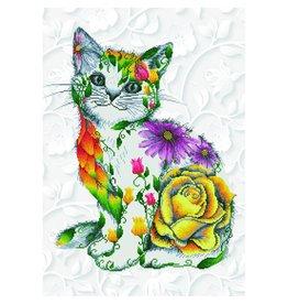 "Diamond Dotz Diamond Embroidery Facet Art Kit 55 x 78cm (21.7"" x 30.7"") - Flower Puss"