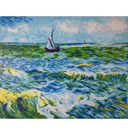 "Diamond Dotz Diamond Embroidery Facet Art Kit 63 x 53cm (24.8"" x 20.8"") - Seascape at Saint Maries (Van Gogh)"