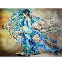 "Diamond Dots Diamond Embroidery Facet Art Kit 85 x 67cm (33.5"" x 26.4"") - Dragon Princess"