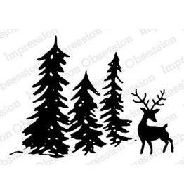 Treasuremart Cling Stamp, Deer Scene