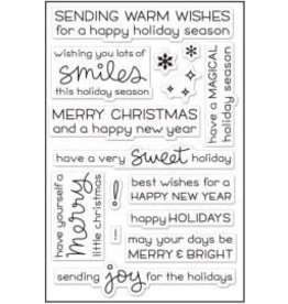 Treasuremart Photopolymer Clear Stamps, Merry Messages