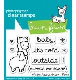 Treasuremart Photopolymer Clear Stamps, Winter Alpaca