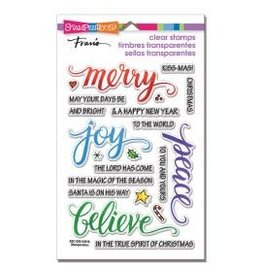 Treasuremart Clear Stamps, Merry Words PCS