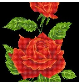 "Diamond Dotz Diamond Embroidery Facet Art Kit 10.6x16.5"" Red Rose Corsage"