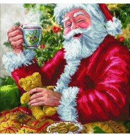 "Diamond Dots Diamond Embroidery Facet Art Kit 20.5""x31.5"" Santa's Cuppa"