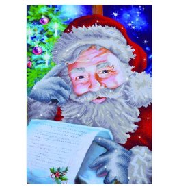 "Diamond Dots Diamond Embroidery Facet Art Kit 22.75""X31.5"" Santa's Wish List"