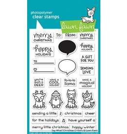 Treasuremart Clear stamp Set, Say What? Christmas Critters