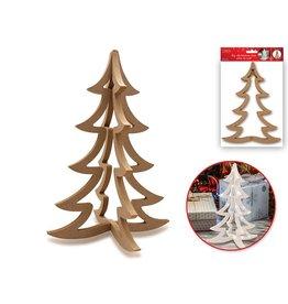 "10.75""x7.75"" MDF Christmas Tree Paintable"