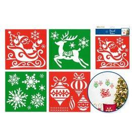 "Holiday Painting & Decor: 7""x7"" Word Decor Stencils Asst 12eax4styles A) Holiday Icons"