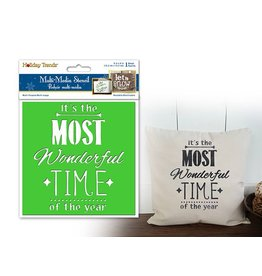 """Holiday Painting & Decor: 6""""x6"""" Word Decor Stencil C) It's The Most Wonderful"""