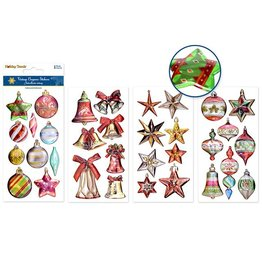 MultiCraft Holiday Sticker: 9cmx17.5cm 3D Embossed Metallic Asst 12eax4styles A) Holiday Icons