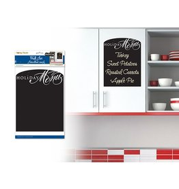 "8""x10.5"" Chalkboard/Wall Organizer Sticker Holiday Menu"