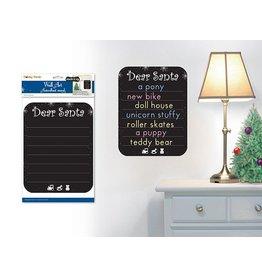 "8""x10.5"" Chalkboard/Wall Organizer Sticker Dear Santa"