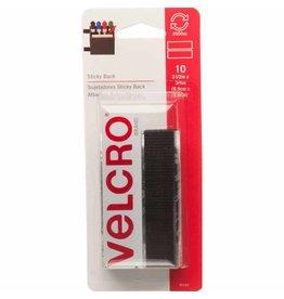 Hakidd VELCRO Sticky Back Strips Black - 19mm x 9cm - 10 pcs.
