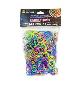 WONDER LOOM Loom Bands - Assorted Solid Bright Colours - 600 pcs.