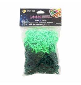 WONDER LOOM Loom Bands - Dark Green/Light Green - 600 pcs.