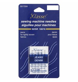 KLASSE´ Jean Needles Carded - Size 100/16 - 5 count