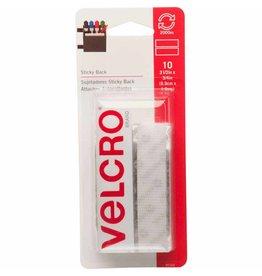 Hakidd VELCRO Sticky Back Strips White - 19mm x 9cm - 10 pcs.