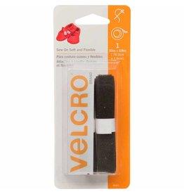 "Hakidd VELCRO Sew On Soft & Flexible Tape Black - 16mm x 76cm (5⁄8"" x 30"")"