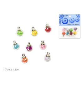Dress Up Buttons Dress It Up Buttons Insects DUB 10526 Rainbow Mini Bubbles