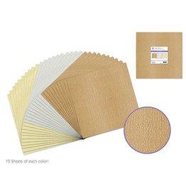"""Scrapbook Paper: 12""""x12"""" Textura Bling Cardstock Asst 10eax3styles E) Metallique"""