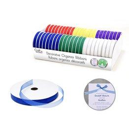 """Craft Decor Craft Décor Ribbons & Trims: Sheer Organza 3/8"""" x 5yd Rolls x46 Asst A) Bold"""