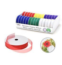 """Craft Decor Craft Décor Ribbons & Trims: Sheer Organza 5/8"""" x 4yd Rolls x28 Asst A) Bold"""