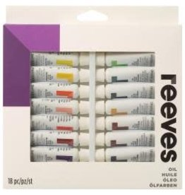 Reeves Oil Colour 10ml 18/Pkg Assorted Colors