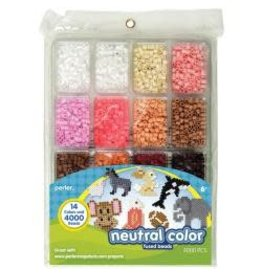 Perler Fused Bead Tray 4,000/Pkg Neutral Color