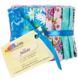 "Fabric Palette Jellies 2.5""X42"" 20/Pkg Punch of Paisley"