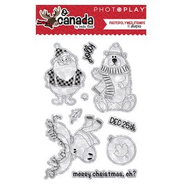 Kathy's Fiber Arts & Crafts Ltd Clear Stamp, O Canada Christmas