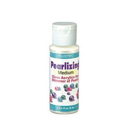 Crafters Acrylic Paint Decoart Painting Mediums: 2oz Americana Mediums DS48 Pearlizing Medium