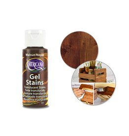 Crafters Acrylic Paint Decoart Paint: 2oz Americana Gel Stains DS28/29/30 DS29 Walnut