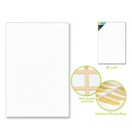 "MultiCraft Stretch Artist Canvas: Rect. 36""x48"" Primed Back-Stapled"