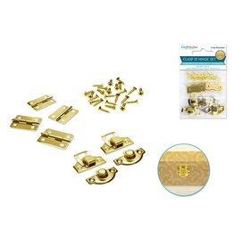 Craft Medley: Clasp & Hinge Set 2 Sets/pk B) Gold