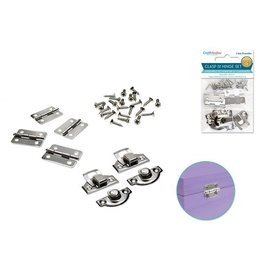 Craft Medley: Clasp & Hinge Set 2 Sets/pk A) Silver