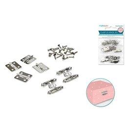 Craft Medley: Clasp & Hinge Set 2 Sets/pk A) Silver