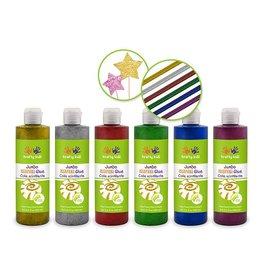 MultiCraft Twinkle Town: 250ml Glitter Glue Bottles Jumbo Asst 6styles A) Primary Asst