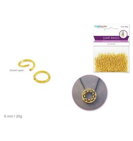 MultiCraft Jewelry Findings: 6mm Jump Ring x350 20g A) Gold