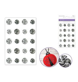 MultiCraft Paper Craft Emb: 10mm+12mm Bling Swirl Gems x20 Self-Stick A) Classic