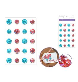 MultiCraft Paper Craft Emb: 10mm+12mm Bling Swirl Gems x20 Self-Stick B) Bollywood