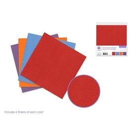 "Cardstock: 6""x6"" Textura Distressed Packs x16 Asst A) Brights"